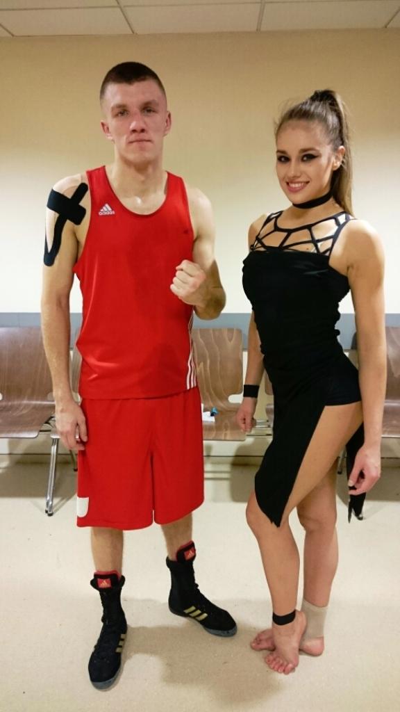 Nasi mistrzowie sportu: Aleksandra Kępa - brązowa medalistka MŚ w fitness i Damian Falecki - ćwierćfinalista MP w boksie