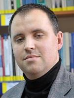 Dr Paweł Gotowiecki, ur. 1983, historyk, nauczyciel akademicki, dziekan Wydziału Nauk Społecznych i Technicznych WSBiP.