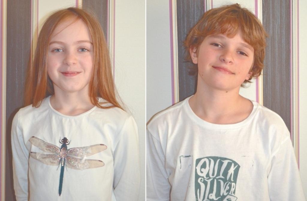 Dzieci syna Piotra - 10.letnia Marysia i 12.letni Mikołaj