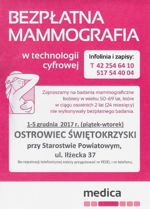 mammografia grudzień 2017