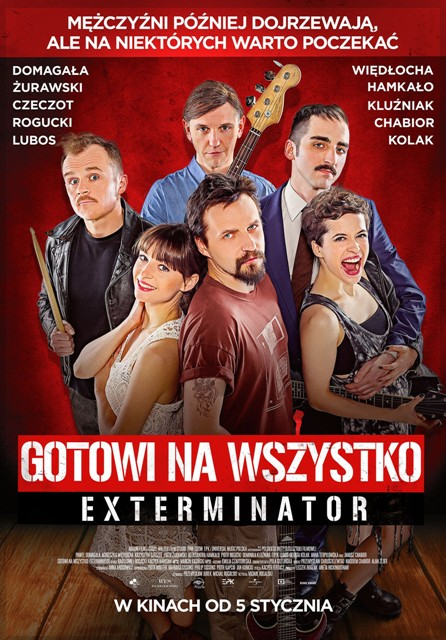 GOTOWI NA WSZYSTKO EXTERMINATOR oficjalny plakat