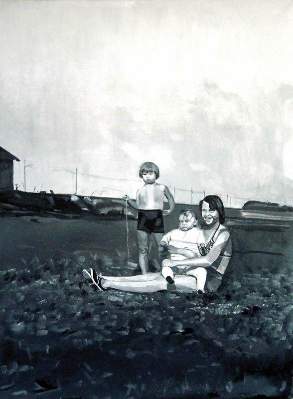 Robert's sister, 2011, akryl, 80x60cm
