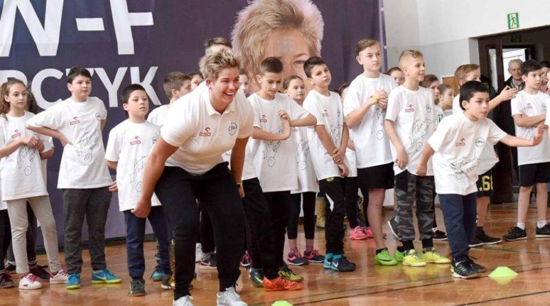 Sadowie. Lekcja wychowania fizycznego z Anitą Włodarczyk, mistrzynią olimpijską w rzucie młotem