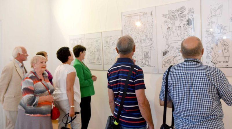 """Biuro Wystaw Artystycznych. Wernisaż wystawy Tadeusza Szypowskiego """"Pół żartem, pół serio"""""""