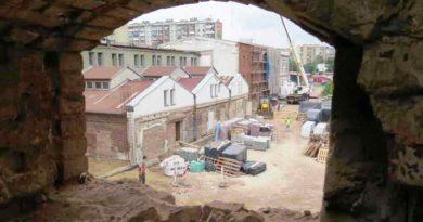 Na budowie Ostrowieckiego Browaru Kultury