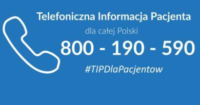 800 190 590 – nowa Telefoniczna Informacja Pacjenta