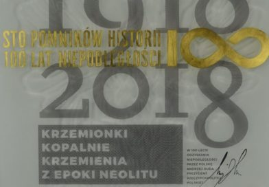 Okolicznościowa tablica dla Krzemionek na 100-lecie Odzyskania Niepodległości przez Polskę