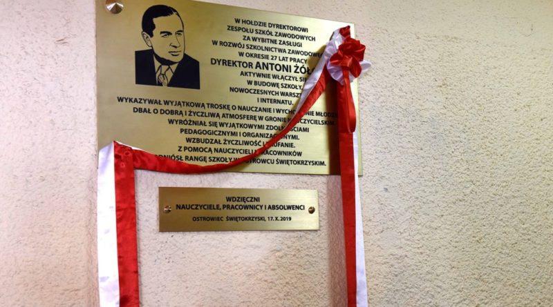 Centrum Kształcenia Zawodowego i Ustawicznego. Odsłonięcie tablicy upamiętniającej dyrektora Antoniego Żółciaka