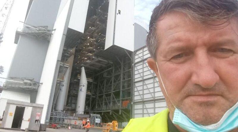 Piotr Krawczyk w Gujanie Francuskiej pracuje przy projekcie Ariane 6