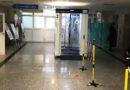 Kabina do dezynfekcji w opatowskim szpitalu